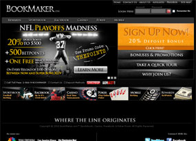 Bet online with Bookmaker Sportsbook